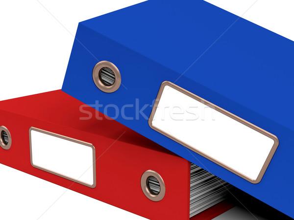 スタック 2 ファイル オフィス 整理 紙 ストックフォト © stuartmiles