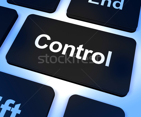 Control Computer Key Showing Remote Controller Or Interfacing Stock photo © stuartmiles