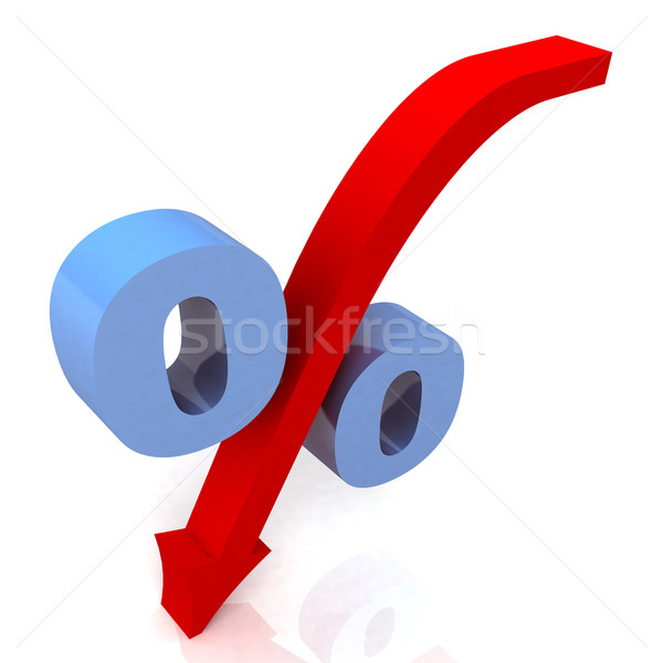 Blue Percentage Symbol Shows Reduced Price Stock photo © stuartmiles
