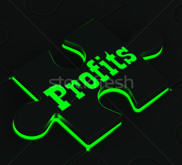Profits Puzzle Showing Monetary Incomes Stock photo © stuartmiles