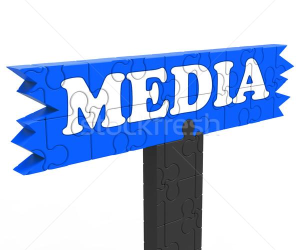 Medya ulaşmak izleyici tv radyo web Stok fotoğraf © stuartmiles