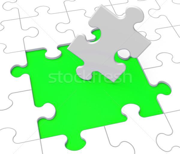 Missing Puzzle Pieces Shows Problems Stock photo © stuartmiles