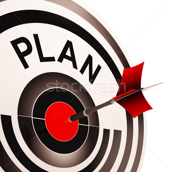 Plan Target Shows Planning, Missions And Goals Stock photo © stuartmiles