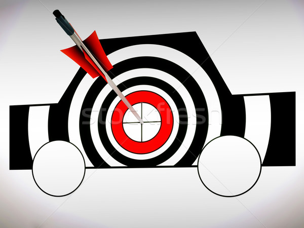 Car Target Shows Excellence And Accuracy Stock photo © stuartmiles