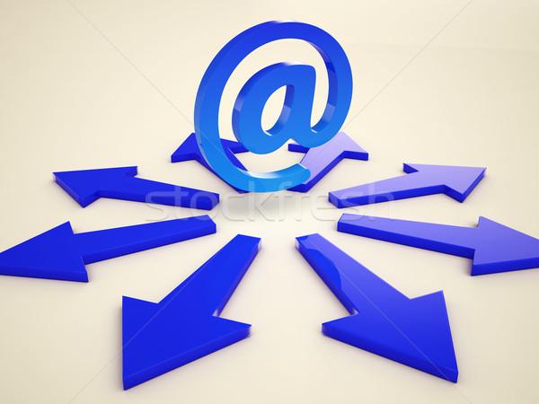 электронная почта Стрелки пост переписка веб Сток-фото © stuartmiles