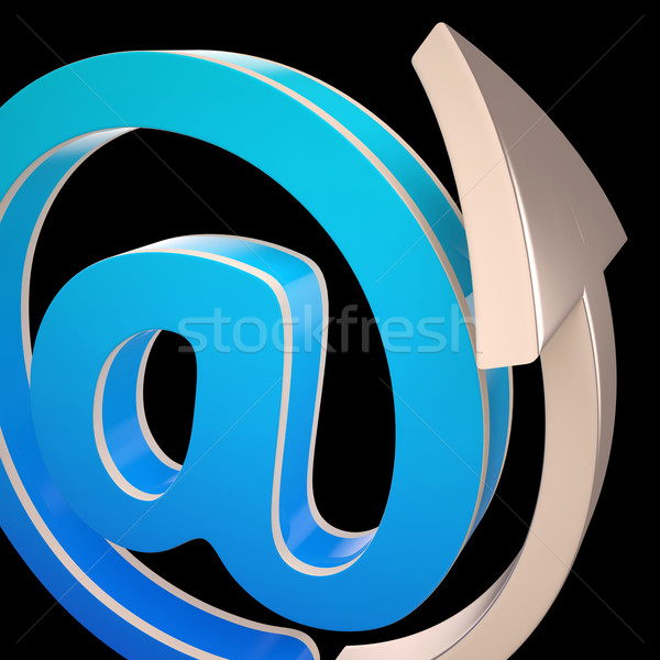 At-Symbol Shows Electronic Mail Correspondence Stock photo © stuartmiles