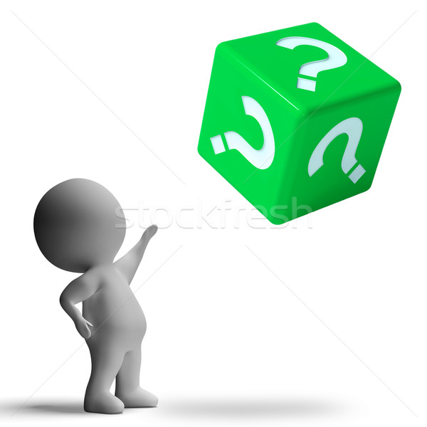 Question Mark On Dice Showing Confusion Stock photo © stuartmiles