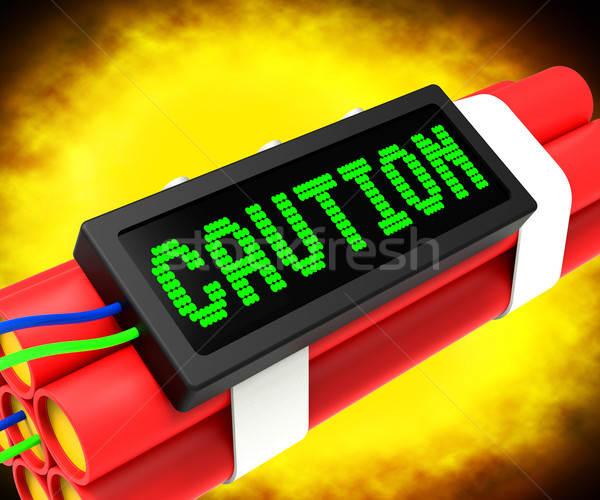 Caution Dynamite Sign Meaning Danger Or Warning Stock photo © stuartmiles