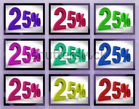 Stock photo: 20 On Monitors Shows Savings And Bonuses