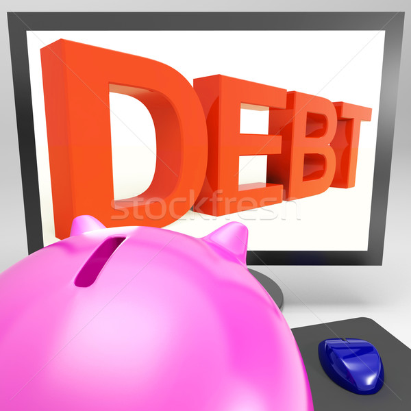Debt On Monitor Showing Financial Troubles Stock photo © stuartmiles