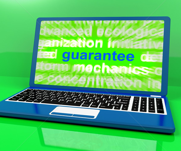 Guarantee Laptop Means Secure Guaranteed Or Assured