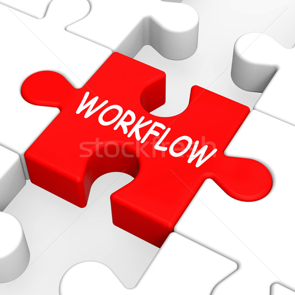 Workflow puzzle proces procedura Zdjęcia stock © stuartmiles
