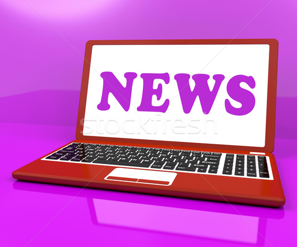 News Laptop Showing Media Newspapers And Headlines Online Stock photo © stuartmiles
