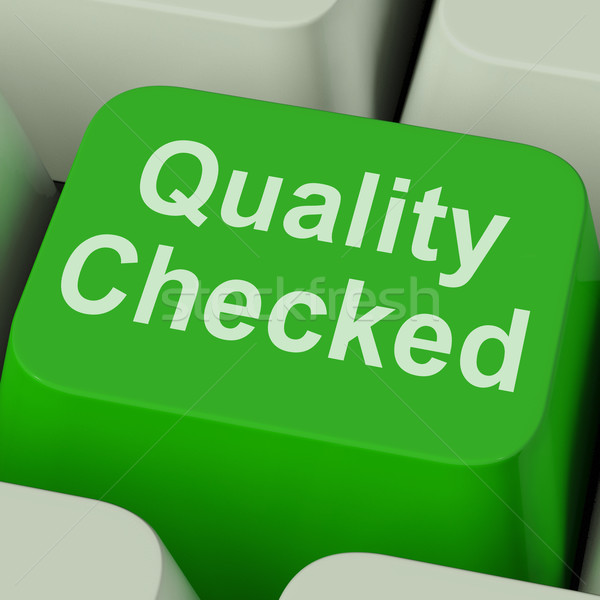 Quality Checked Key Shows Product Tested Ok Stock photo © stuartmiles