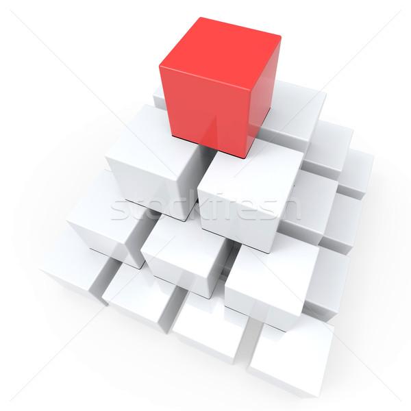 Haut pyramide hiérarchie leader réalisation Photo stock © stuartmiles