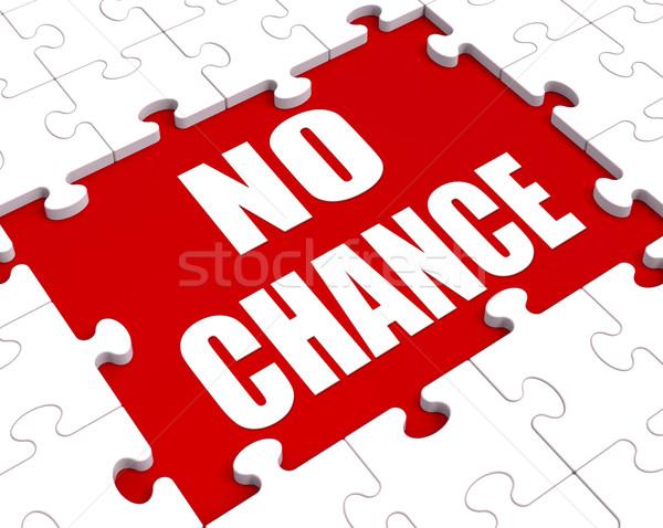 Geen kans puzzel nooit tonen Stockfoto © stuartmiles