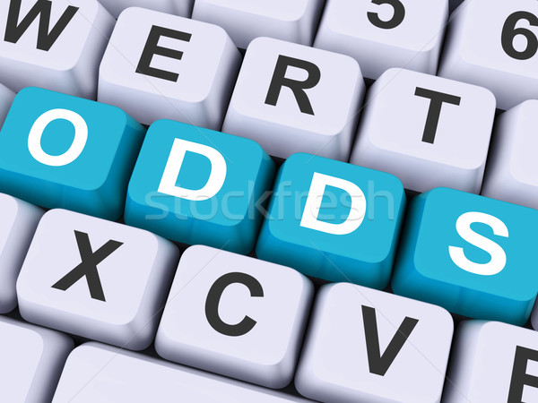 Odds Key Shows Online Possibility Or Gambling Stock photo © stuartmiles
