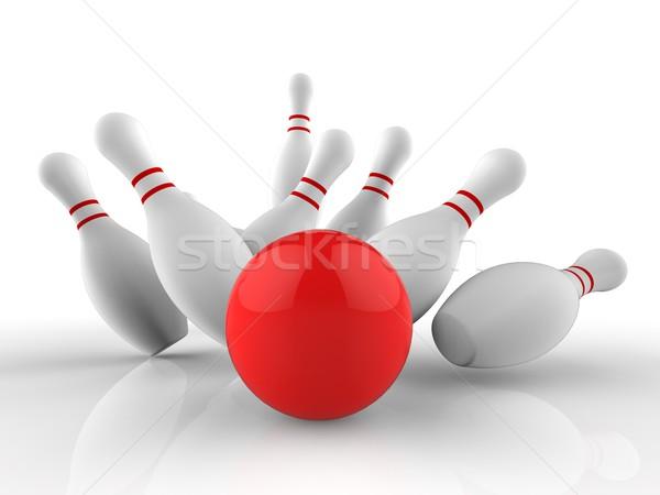 Boliche greve jogo sucesso dez pin Foto stock © stuartmiles