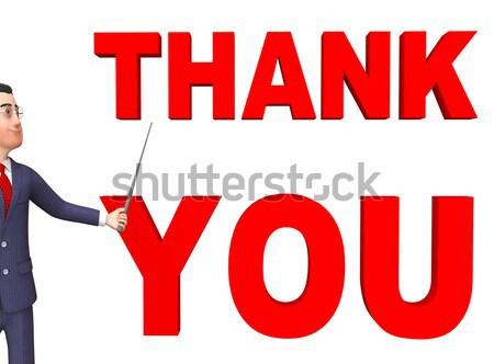 Köszönjük figyelmeztetés mutat köszönet hála Stock fotó © stuartmiles