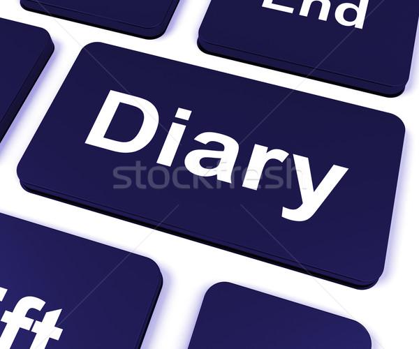 Dziennik kluczowych online harmonogram Zdjęcia stock © stuartmiles