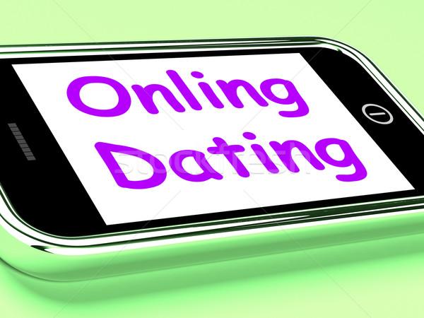 онлайн знакомства телефон веб любви интернет Сток-фото © stuartmiles