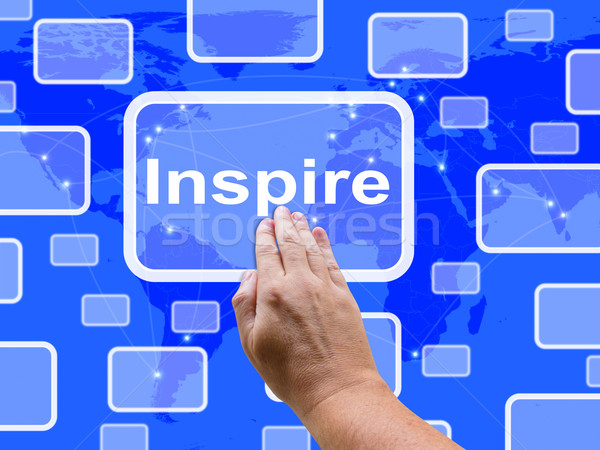 Inspire Touch Screen Shows Motivation And Encouragement Stock photo © stuartmiles