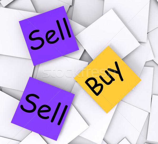 Comprar vender notas mostrar negocios Foto stock © stuartmiles