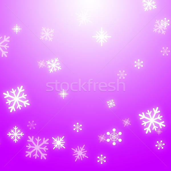 Snow Flakes Background Means Winter Celebration Or Shiny Snow Stock photo © stuartmiles