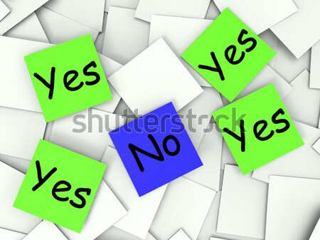Yes No Post-It Notes Mean Positive Or Negative Response Stock photo © stuartmiles