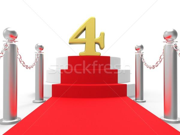 Arany négy vörös szőnyeg elegáns film esemény Stock fotó © stuartmiles
