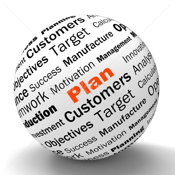Plan Sphere Definition Means Planning Or Objective Managing Stock photo © stuartmiles