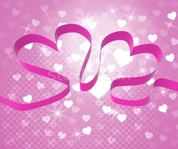 лента сердцах шоу любящий пару сердце Сток-фото © stuartmiles