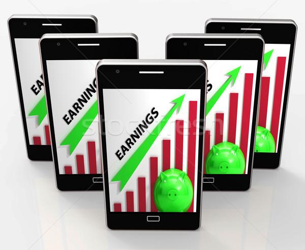 Stock fotó: Kereset · grafikon · cég · eladó · jövedelem · mutat