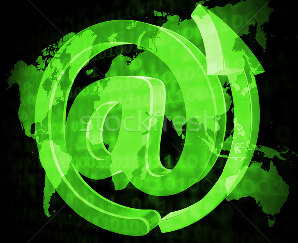 Email Sign Shows Send Message And Communicate Stock photo © stuartmiles