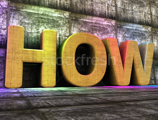 How Word Represents Info Answers And Answer Stock photo © stuartmiles