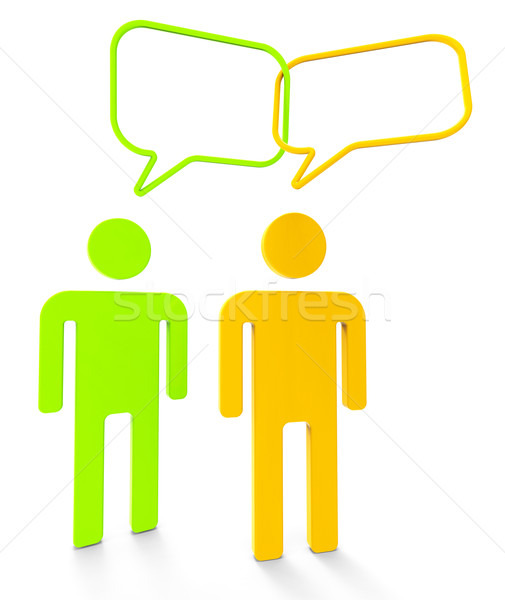 люди связи дебаты Сток-фото © stuartmiles