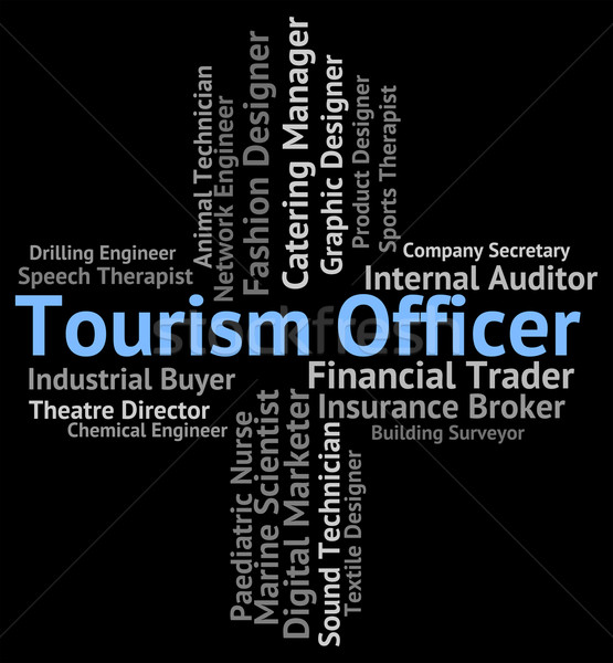Tourism Officer Shows Officials Travelling And Career Stock photo © stuartmiles