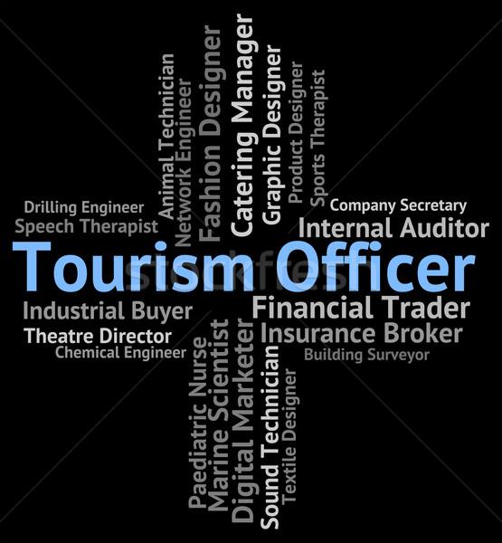 Turystyki oficer kariery wakacje pracy Zdjęcia stock © stuartmiles