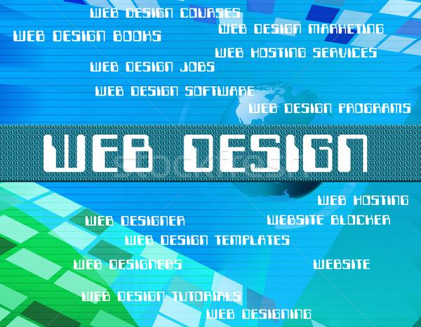 Web Design Shows Net Designs And Designers Stock photo © stuartmiles