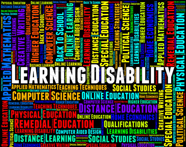 Learning Disability Words Represents Special Needs And Disabled Stock photo © stuartmiles