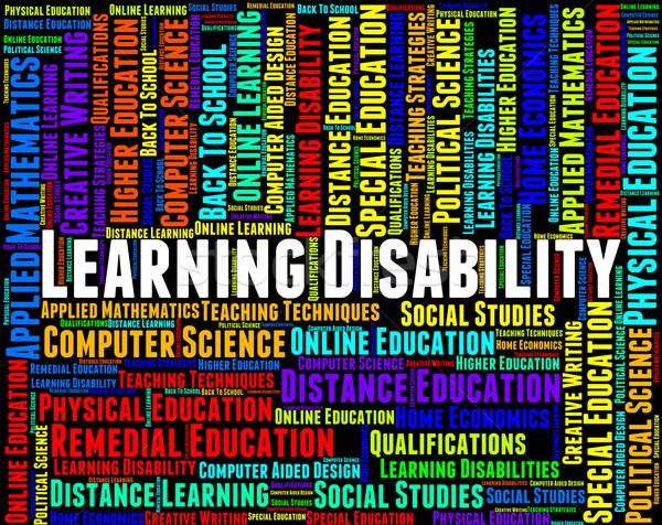 Leren onbekwaamheid woorden gehandicapten betekenis Stockfoto © stuartmiles