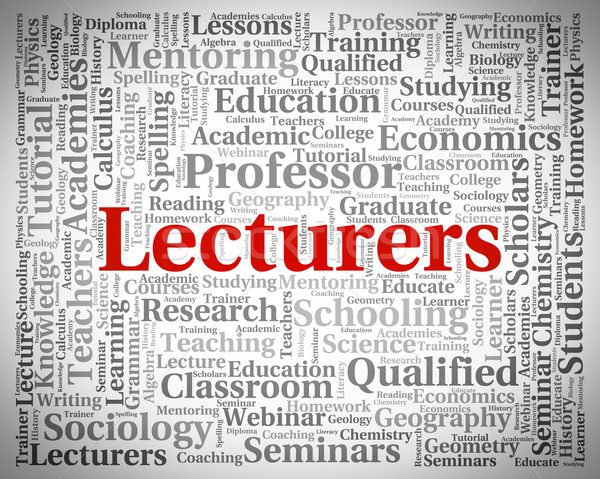 Stock photo: Lecturers Word Represents Recitation Recitations And Oration