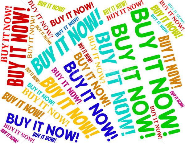 Satın almak şimdi zaman satın alışveriş Stok fotoğraf © stuartmiles