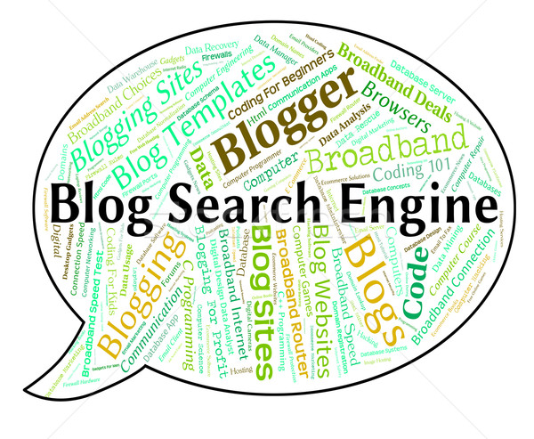 Blog Search Engine Means Gathering Data And Analysis Stock photo © stuartmiles