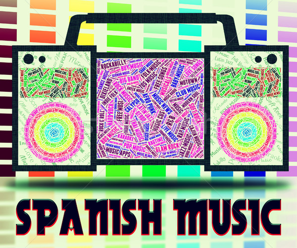 Spanish Music Represents Latin American And Guitar Stock photo © stuartmiles