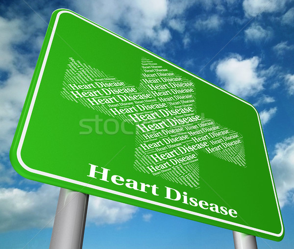 Heart Disease Indicates Ill Health And Chf Stock photo © stuartmiles