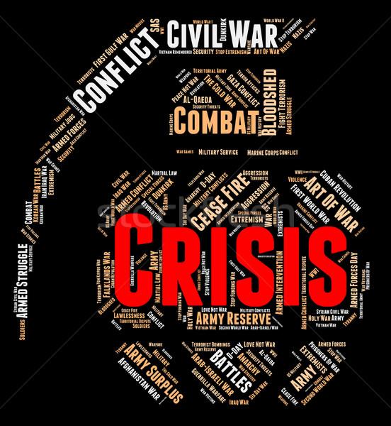 Kryzys słowo awaryjne słowa bałagan Zdjęcia stock © stuartmiles