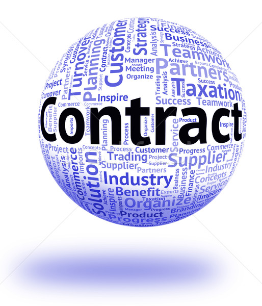 Contract Word Represents Words Wordclouds And Covenant Stock photo © stuartmiles