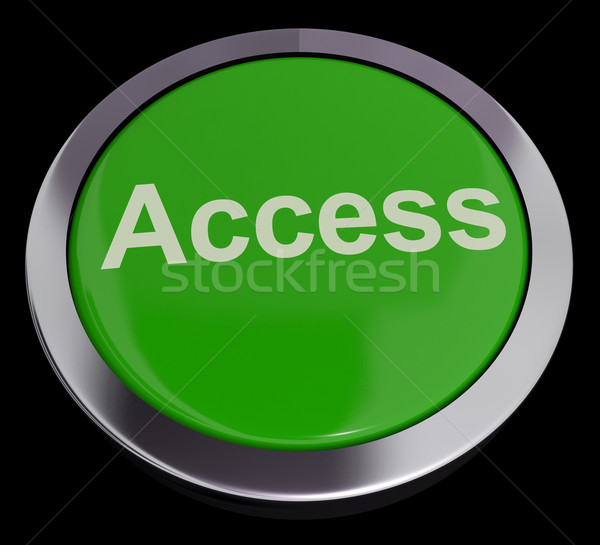 Access Button In Green Showing Permission And Security Stock photo © stuartmiles