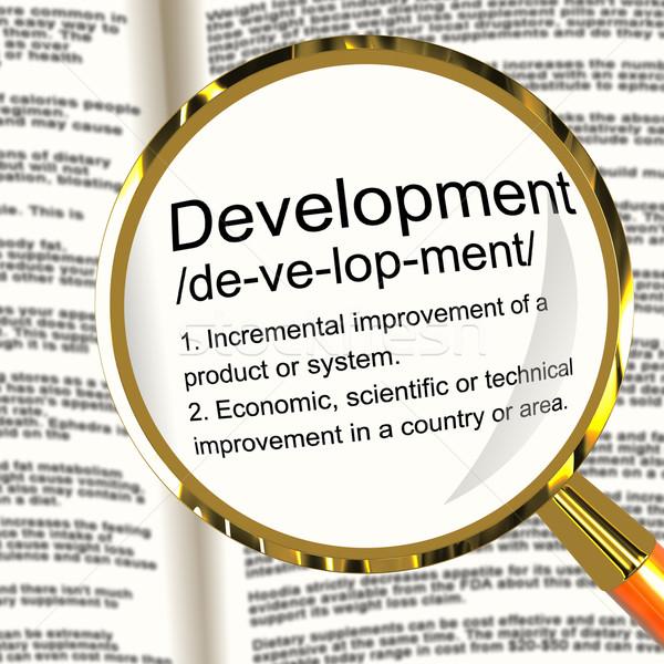 развития определение улучшение роста Сток-фото © stuartmiles
